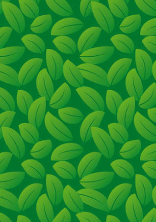 Seamless dark green leaf background - vector include pattern source - easy to modify Stock Photo