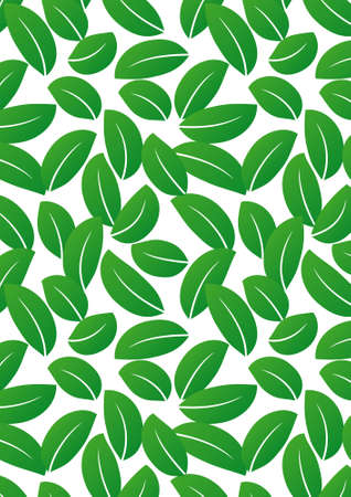 Seamless green leaf background - vector include pattern source - easy to modify Stock Photo - 8115491