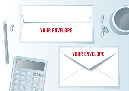 Envelope presentation format - layout template - easy to modify, in vector file each element in different layer. Stock Photo - 8115498