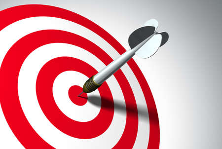 intention: Arrow on red target - business concept