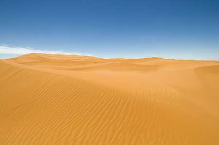 erg: Erg Chebbi sand dunes - Sahara desert. Best of Morocco. Stock Photo