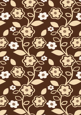 Autumn Flowers Pattern - Seamless abstract floral background - vector include pattern source - easy to modify photo
