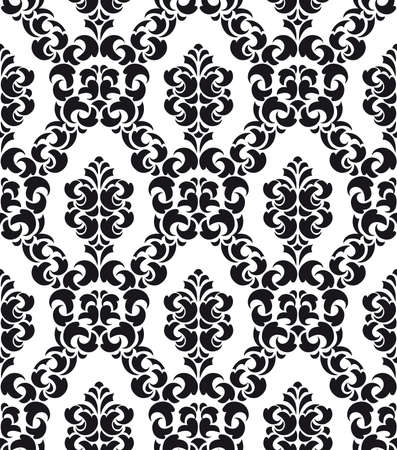 Damask Style Pattern Background - BW texture - Vector Include layer whit pattern design source photo