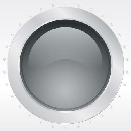 airplane window: Porthole of a plane or ship, external view