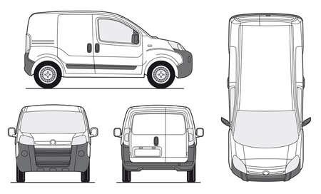Bestelwagen Template - Lay-out voor de presentatie - vector EPS-8