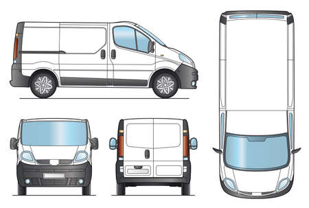 van: Delivery Van Template - Layout for presentation - Vector EPS-8