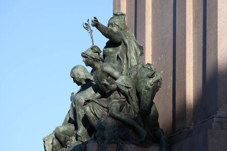 The equestrian monument dedicated to Giuseppe Garibaldi in Rome - Americas statue detail