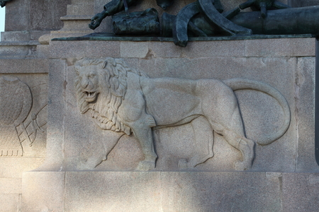The equestrian monument dedicated to Giuseppe Garibaldi in Rome - Lion detail