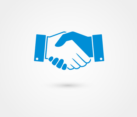 Business handshake contract agreement line art icon for apps and websites. Ilustração