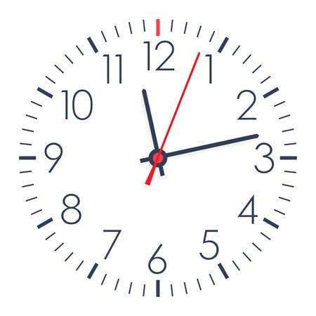 Vector einfachen Büro-Uhr auf weißen Hintergrund.