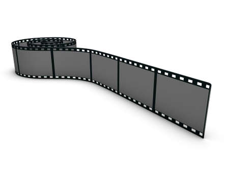 Rolled out film strip Stock Photo - 3481819