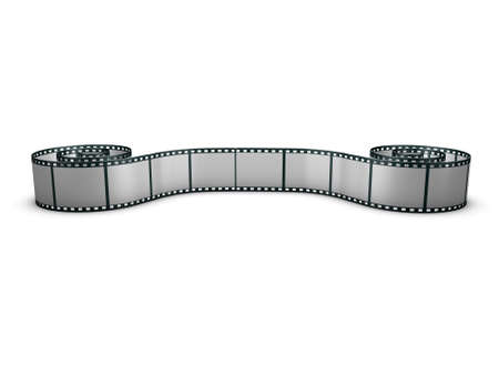 Rolled out film strip Stock Photo - 3481820