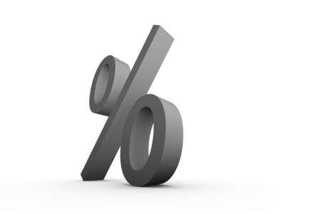Percentage symbol on white background Stock Photo - 3481825