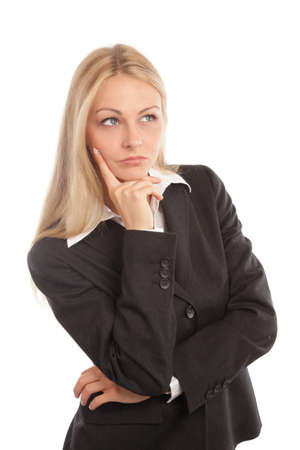 seriously: Business woman looking seriously into camera