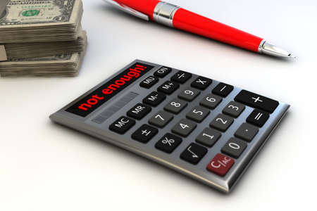 shortfall: Calculate your costs Stock Photo