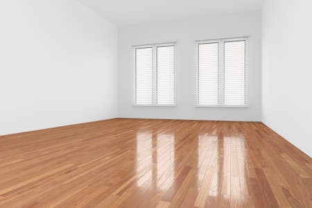 sitting on floor: Empty Room with window and wooden floor