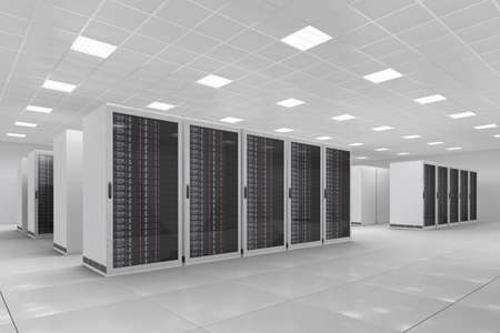 datacentre: Computer Center with bunch of server racks