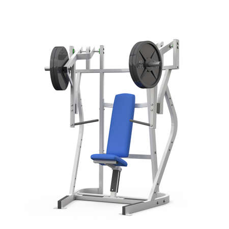 Weight bench for chest isolated on white background photo