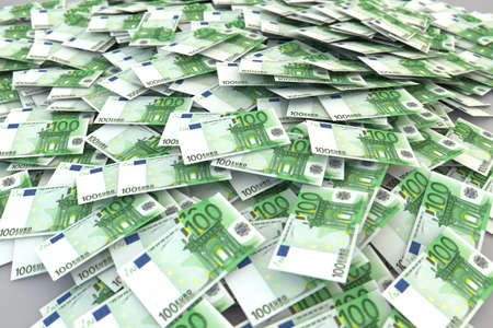 100 Euros money stack isolated on white background Stock Photo - 15305205