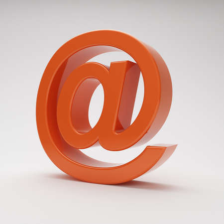 red email at symbol on grey background with highlights Stock Photo - 15409817