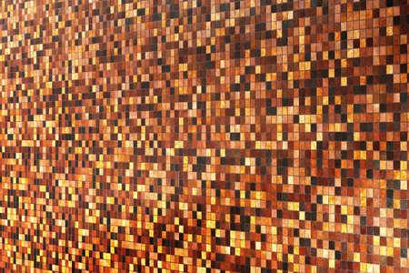 Brown and orange Bathroom tiles 3d render photo