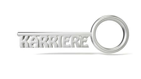 Key concept Karriere with white background and shadows Stock Photo - 17217248