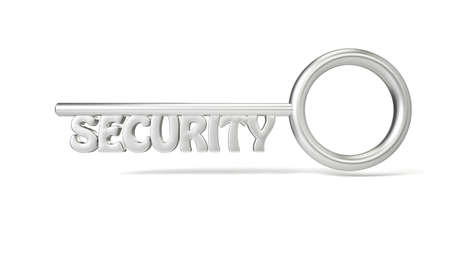 sicherheit: Key concept security with white background and shadows
