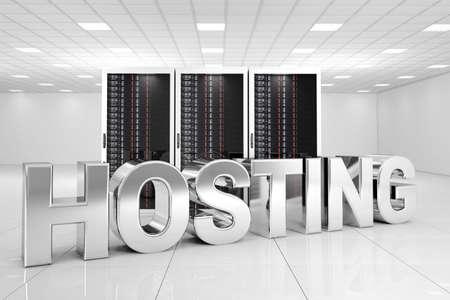 Chrome Hosting letters in data centre