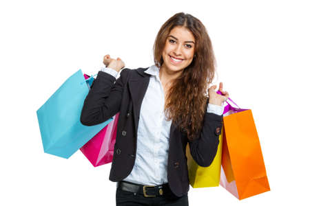 spendthrift: Woman with shopping bags