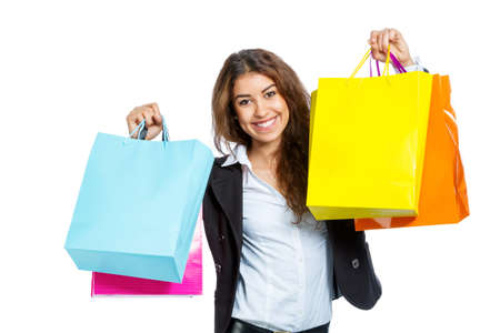 spendthrift: Cute Girl with shopping bags