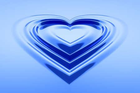 Hoor vormige water druppels in blauwe kleur