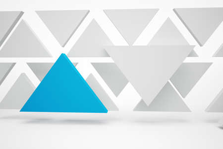 abstrakt: Abstrakt blue triangles on white and grey background