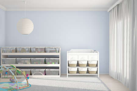 interior architecture: Children room with toys and small bed