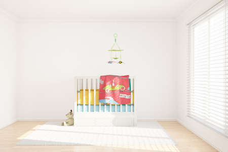 Children room with toys and small bed photo