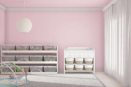 small room: Children room with toys and small bed