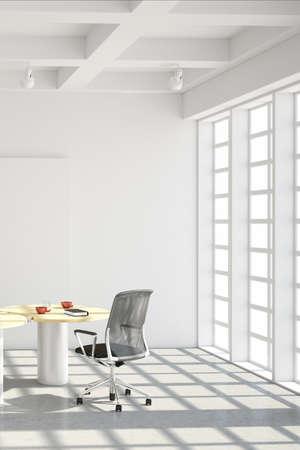 muebles de oficina: Estilo loft moderno de la oficina con las ventanas grandes