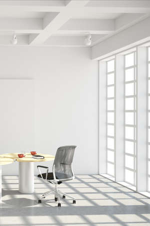 interior architecture: Modern office loft style with big windows Stock Photo