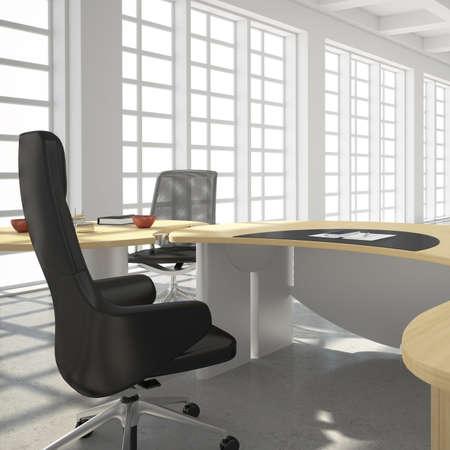 big windows: Современный офис в стиле лофт с большими окнами