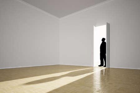 Angst-Konzept mit Schatten im Zimmer und schwarze Silhouette Standard-Bild - 26785218