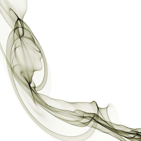 Abstract spiral pattern of intertwined translucent flowing ribbons forming a conical helical shape isolated on white Standard-Bild