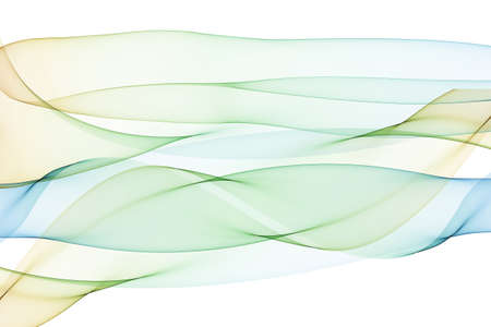 Abstract spiral pattern of intertwined translucent flowing ribbons forming a conical helical shape isolated on white 版權商用圖片