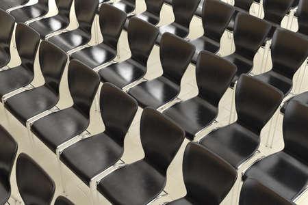 Reihe der Stühle Draufsicht als Hintergrund Standard-Bild - 28637221