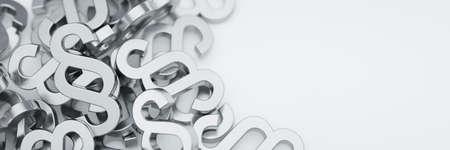 Absatzsymbole auf weißem Grundpanorama Standard-Bild - 84444154