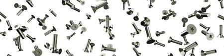 Fliegende Schrauben als Konzeptpanorama Standard-Bild - 87015275