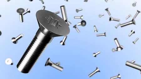Fliegende Schrauben als Konzept Standard-Bild - 87015276