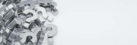 Stapel von Fragezeichen aus Metall Standard-Bild - 87015280