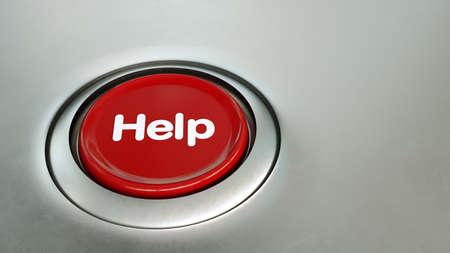 red help button Standard-Bild