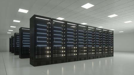 datacenter with black racks