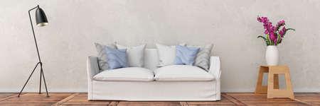Sofa vor der Wand Standard-Bild - 91099943