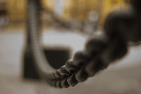 catenation: chained links Stock Photo